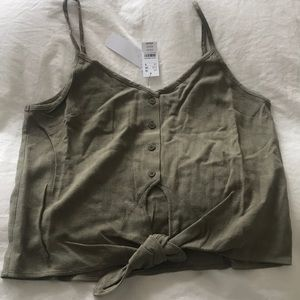 NWT Topshop Button up tank